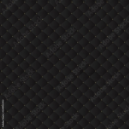 Black leather pattern texture background. Seamless texture.