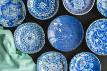 Blue And White Decorative Japa...