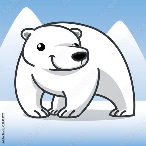 polar bear cartoon, cartoon cute, animal cute