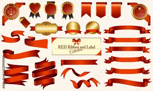 Fotografie, Obraz  赤いメダル&リボンセット