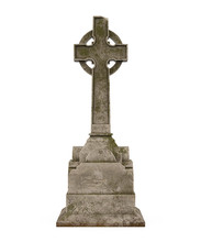 Cross Tombstone Isolated