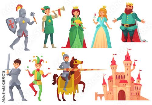 Medieval characters Wallpaper Mural