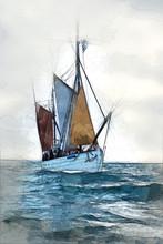 Old Britton Sailboat