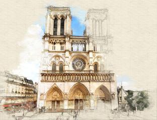 FototapetaNotre Dame de Paris