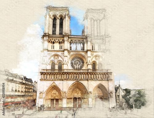 Fototapeta Notre Dame de Paris