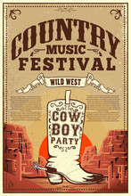 Country Music Festival Poster....