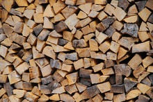 Firewood Piled Up For Winter
