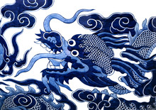 Chinese Dragon Painted On A Ce...