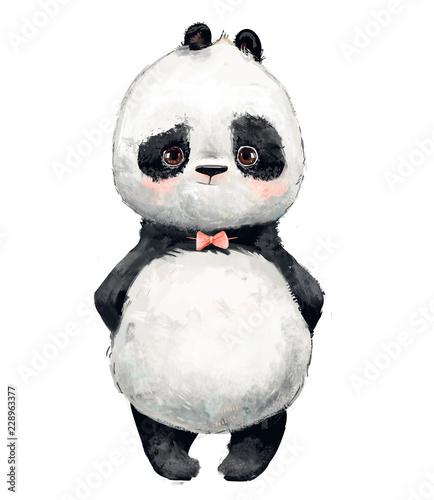 Fototapeta premium Mała urocza panda