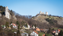 Ruins Of Gothic Castle In Nort...