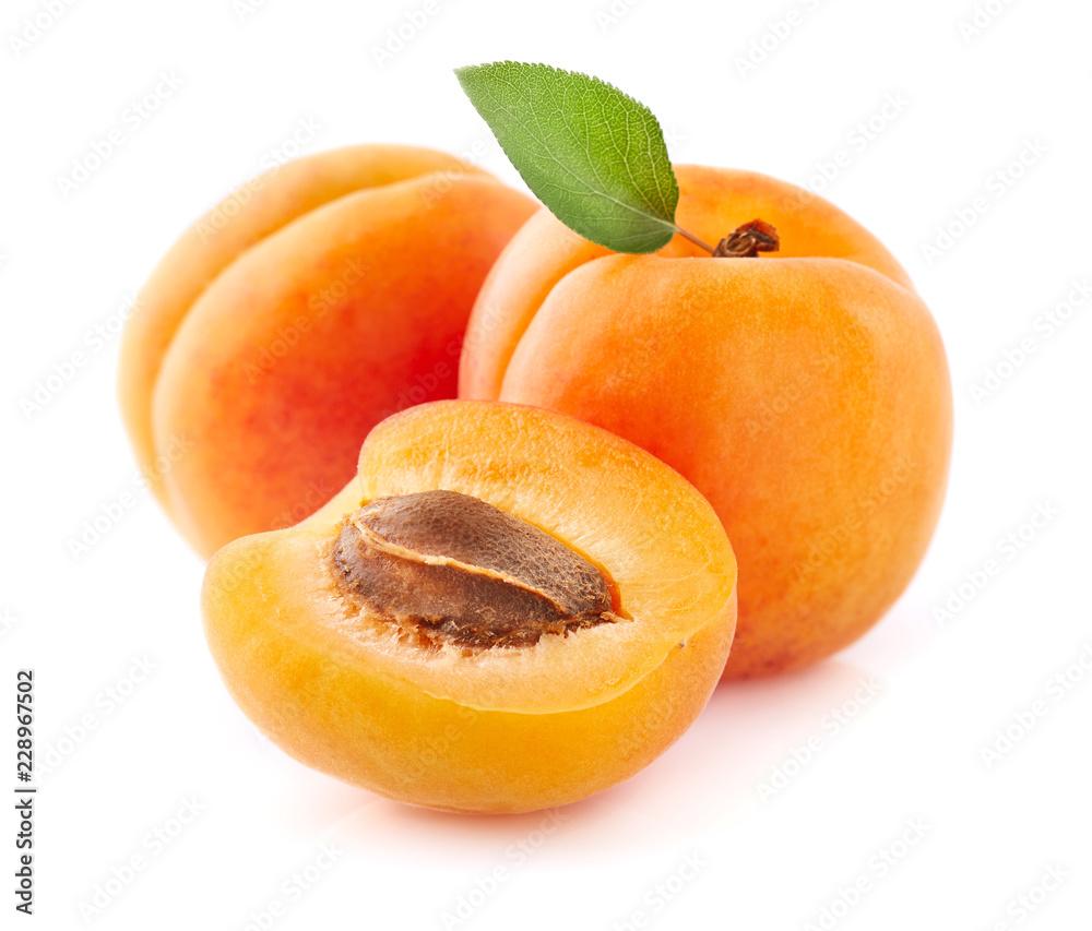 Fresh apricot fruit in closeup