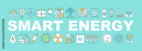 Photographie Smart energy word concepts banner