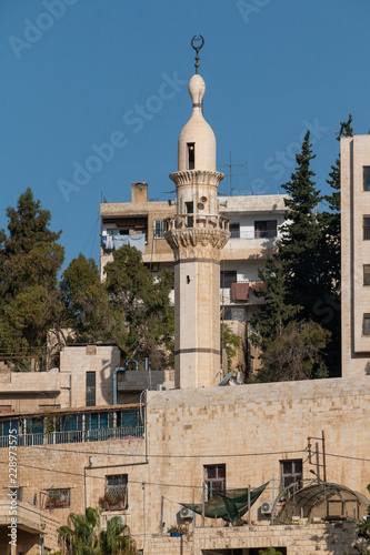 Fotografie, Obraz  Blick auf eine Moschee in Amman, Jordanien