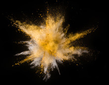 Explosion Of Yellow Powder On ...