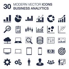 Business Analytics Icons Set (...