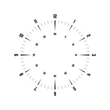 Clock Face. Hour Dial With Num...
