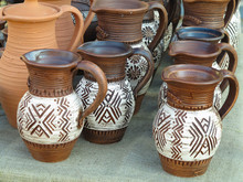 Handmade Ceramic Clay Brown Po...