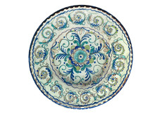 Old Handmade Pottery Plate Iso...