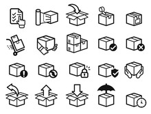 Parcel Care Standard Step Icon...