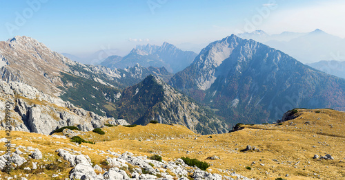 Tuinposter Bergen Mountain panorama over the alps