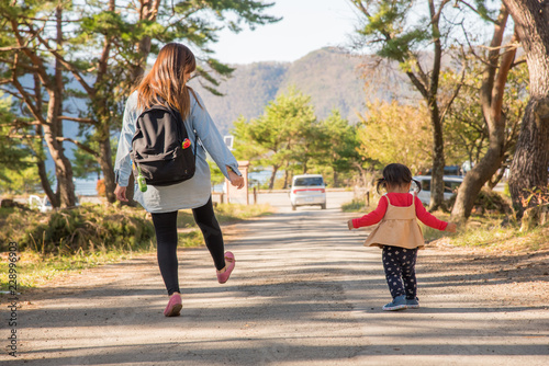 Fotomural 散歩する親子
