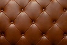 Brown Genuine Leather Sofa Bac...