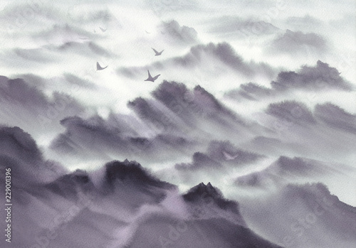 halny-panoramiczny-krajobraz-gor-malowany