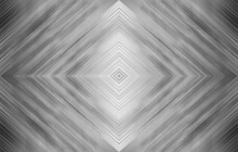 Rhombus Black And White. Monochrome Abstract Technology Background For Templates, Layouts, Web Pages. Kaleidoscope Symmetric Effect With Strips And Geometric Shapes