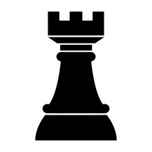 Simple Rook (chess Piece) Icon...