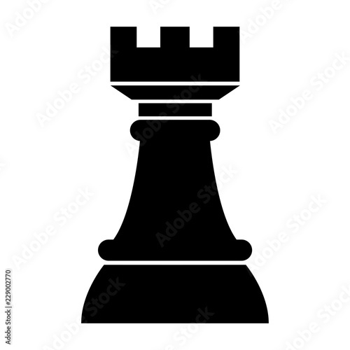 Simple Rook Chess Piece Icon Black Silhouette Flat Design Isolated On White Buy This Stock Vector And Explore Similar Vectors At Adobe Stock Adobe Stock