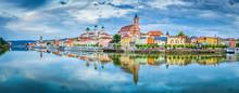 Passau City Panorama With Danu...