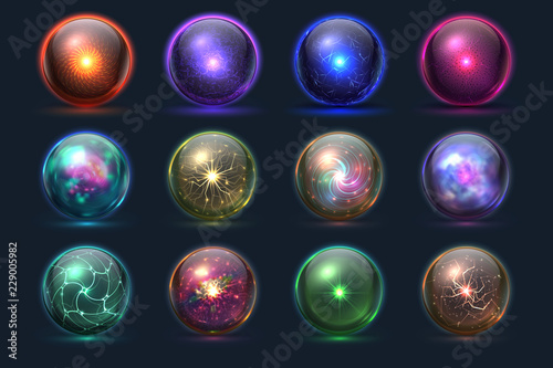 Magic balls Fotobehang