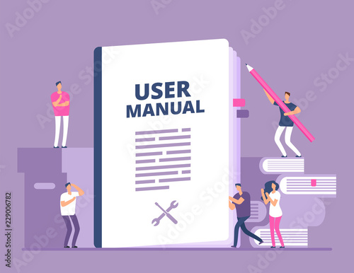 Obraz na plátně User manual concept
