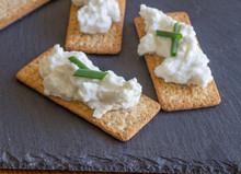Cottage Cheese On Crispbread Crackers