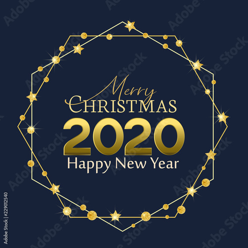 Happy New Year 2020 neon background. Happy New Year 2020 ...