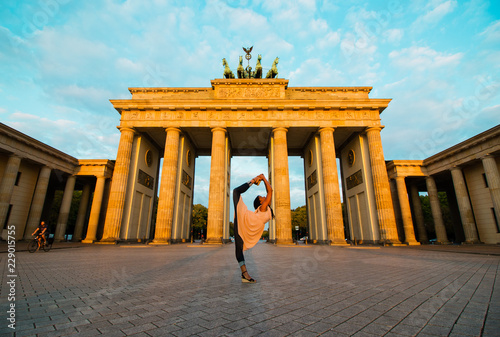 Poster Berlin Berlin, Germany - 06.09.2018. Famous Brandenburger Gate