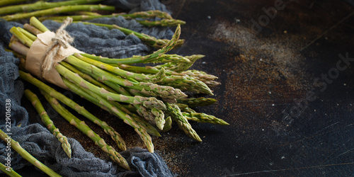 Fresh raw asparagus spears Wallpaper Mural