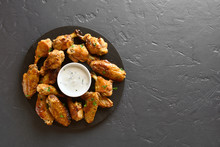 Roasted Chicken Wings With Sauce