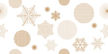 Seamless Christmas Pattern With Happy Holidays Phase Text Design Vintage