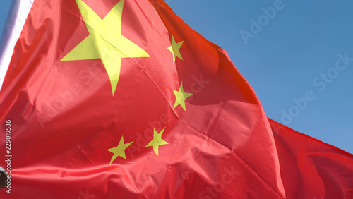Foto op Canvas China The China Flag.