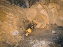 Yellow Excavator Or Bulldozer ...