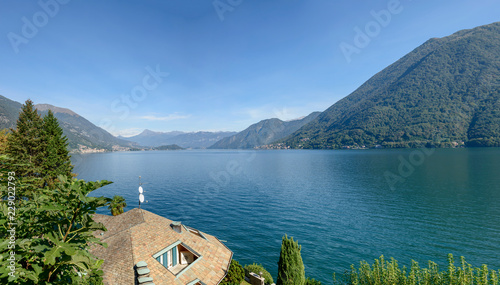 Como lake landscape, from Argegno, Italy Wallpaper Mural
