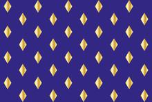 Seamless Background Of Gold Diamonds On Blue