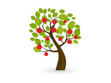 Icon Apple Tree. Vector Illu...