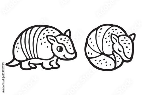 Photo Cute cartoon armadillo