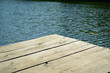 Wooden jetty on a beautiful lake