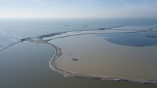 Aerial Of A Nature Reserve Area In Lake Markermeer Holland The Marker Wadden