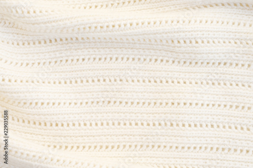 Photo  Texture of white woolen sweater close up macro background