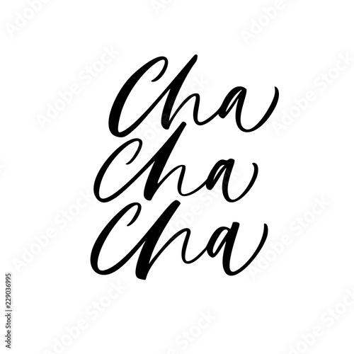 Photo Cha cha cha card