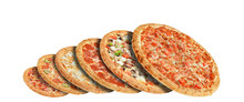 Different Pizzas One Above The...